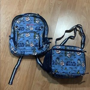 'Lucas' monogrammed back pack /matching lunch bag